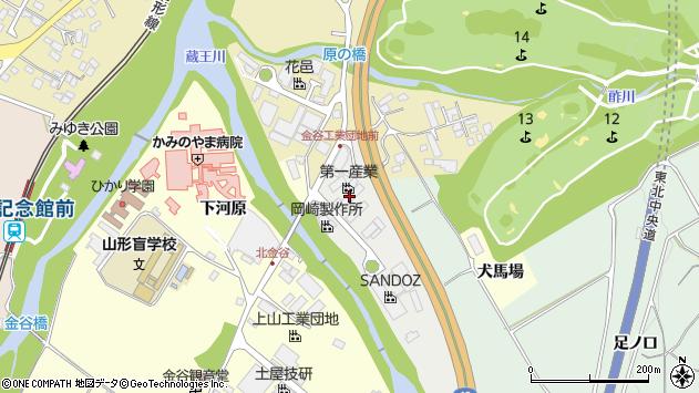 山形県上山市新金谷50周辺の地図