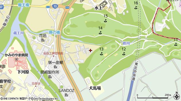 山形県上山市金瓶湯尻91周辺の地図