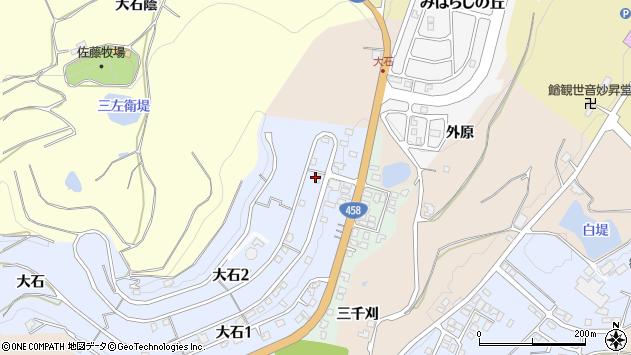 山形県上山市大石周辺の地図