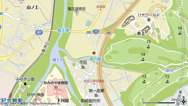 山形県上山市金瓶原212周辺の地図