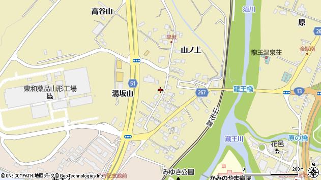 山形県上山市金瓶湯坂山21周辺の地図