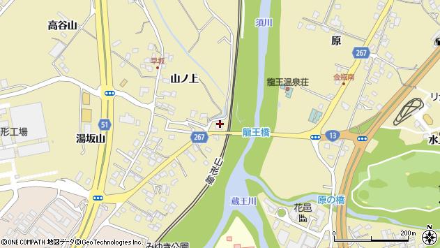 山形県上山市金瓶湯坂山22周辺の地図