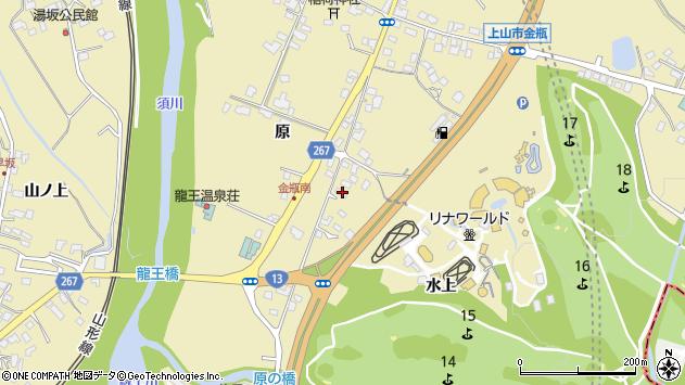 山形県上山市金瓶原255周辺の地図
