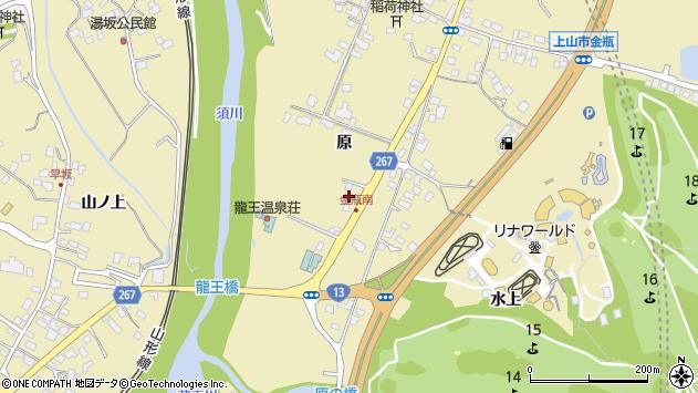 山形県上山市金瓶原117周辺の地図