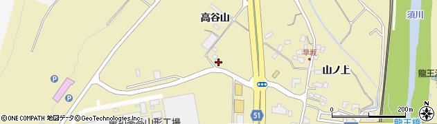 山形県上山市金瓶山ノ上54周辺の地図
