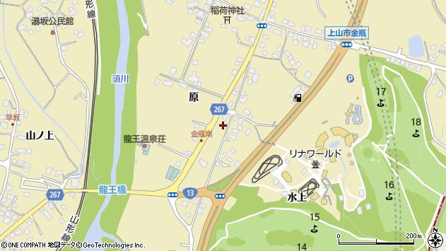 山形県上山市金瓶原247周辺の地図