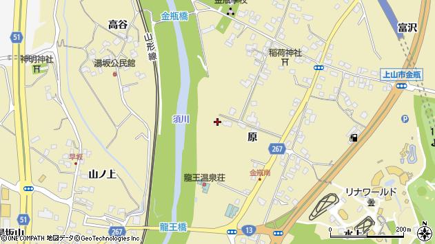 山形県上山市金瓶原57周辺の地図