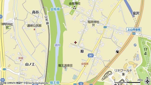 山形県上山市金瓶原64周辺の地図