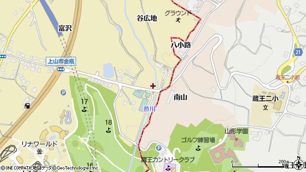 山形県上山市金瓶林ノ蔭54周辺の地図