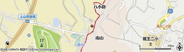 山形県上山市金瓶谷広地周辺の地図