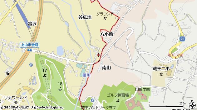山形県上山市金瓶谷広地5周辺の地図