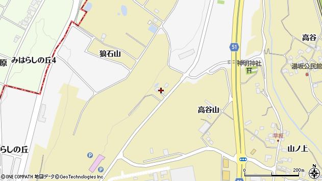山形県上山市金瓶山ノ上255周辺の地図