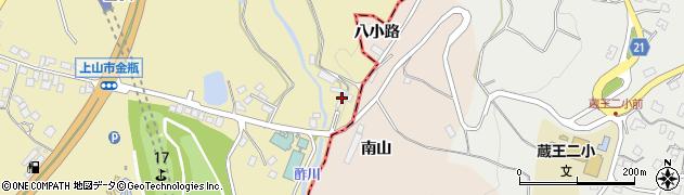 山形県上山市金瓶谷広地8周辺の地図