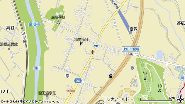 山形県上山市金瓶周辺の地図