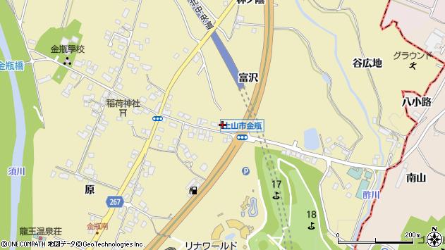 山形県上山市金瓶冨沢48周辺の地図