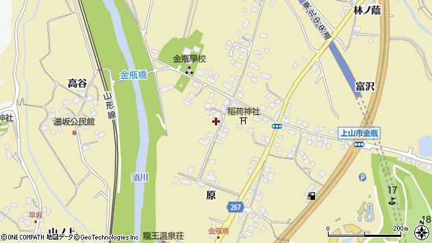 山形県上山市金瓶原14周辺の地図