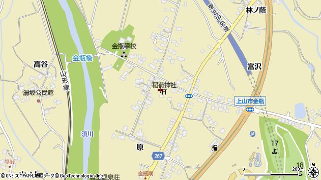 山形県上山市金瓶原3周辺の地図
