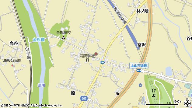 山形県上山市金瓶冨沢1周辺の地図