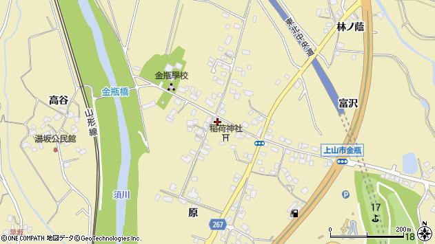 山形県上山市金瓶原1周辺の地図