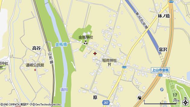 山形県上山市金瓶原18周辺の地図