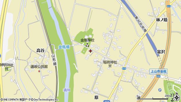 山形県上山市金瓶原21周辺の地図