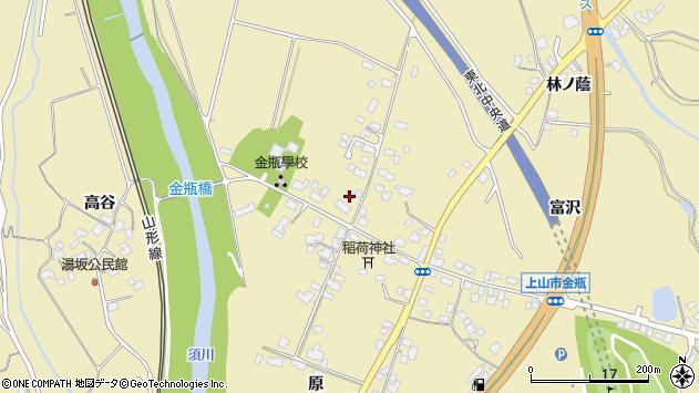 山形県上山市金瓶北159周辺の地図