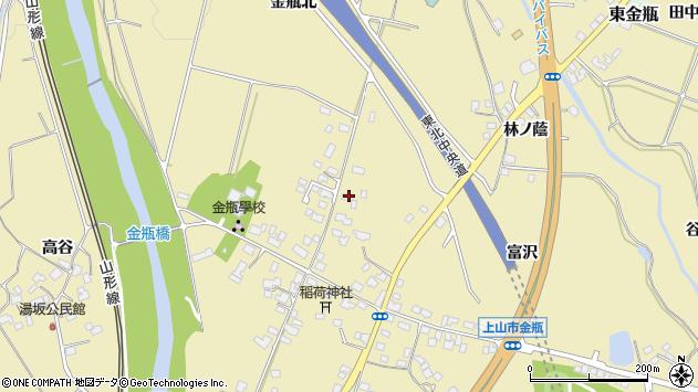 山形県上山市金瓶北7周辺の地図