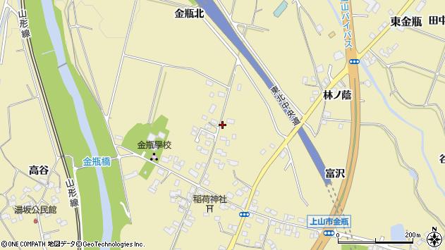 山形県上山市金瓶北8周辺の地図