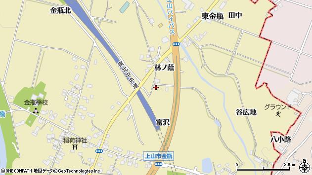 山形県上山市金瓶林ノ蔭23周辺の地図