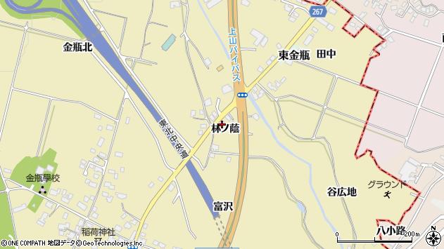 山形県上山市金瓶林ノ蔭周辺の地図