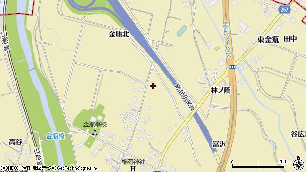 山形県上山市金瓶北221周辺の地図
