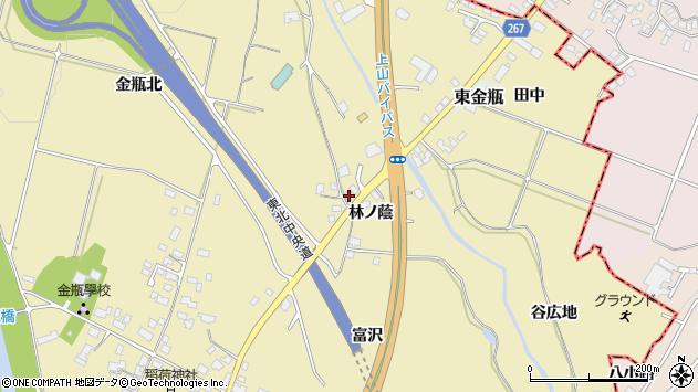 山形県上山市金瓶林ノ蔭16周辺の地図