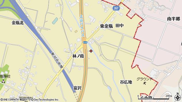 山形県上山市金瓶林ノ蔭12周辺の地図