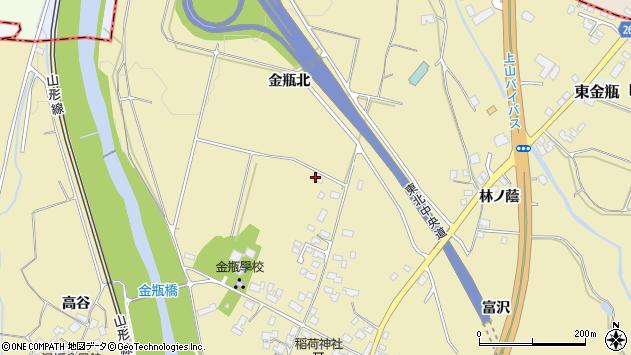山形県上山市金瓶北216周辺の地図