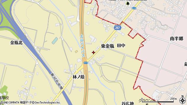 山形県上山市金瓶石田6周辺の地図