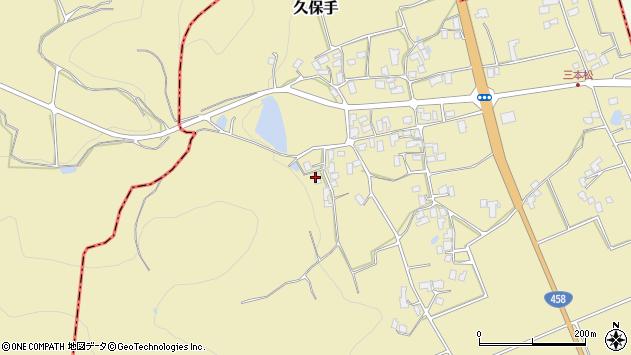 山形県上山市久保手3750周辺の地図