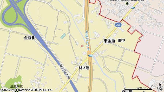 山形県上山市金瓶林ノ蔭9周辺の地図