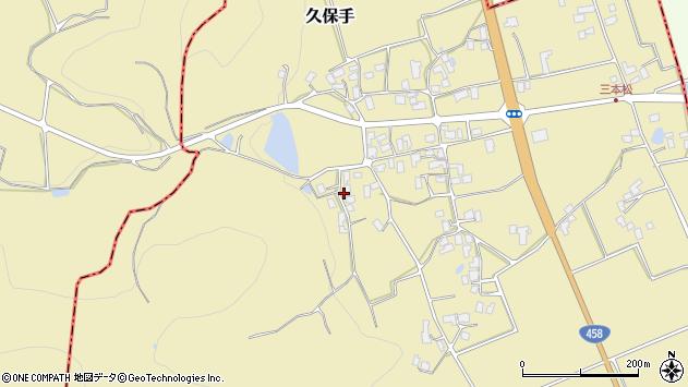 山形県上山市久保手3406周辺の地図