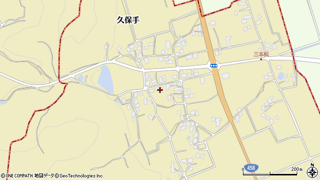 山形県上山市久保手3242周辺の地図