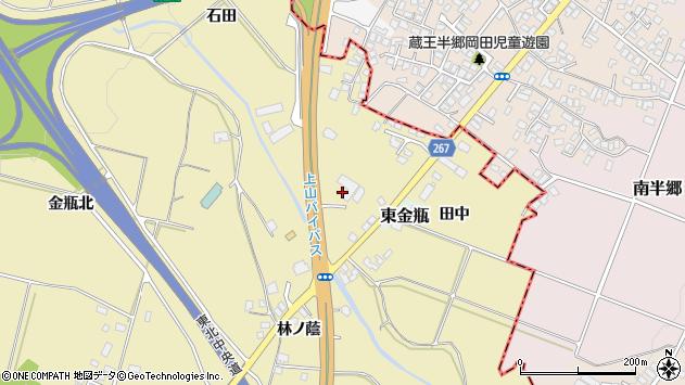 山形県上山市金瓶石田11周辺の地図