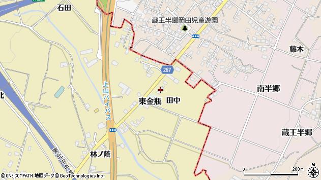 山形県上山市金瓶田中38周辺の地図