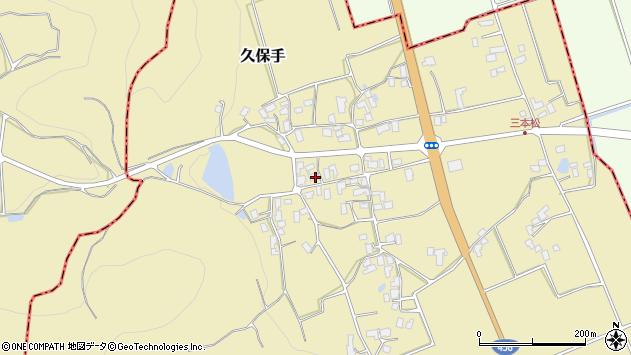 山形県上山市久保手3232周辺の地図