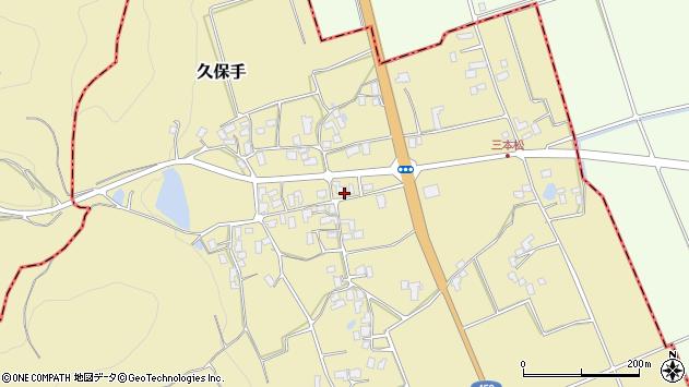 山形県上山市久保手3136周辺の地図