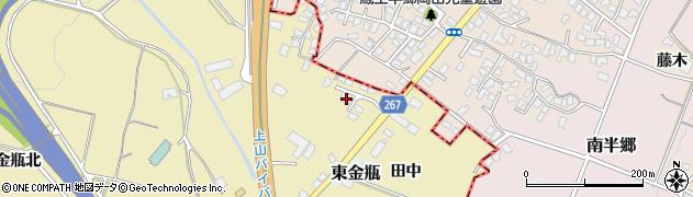 山形県上山市金瓶田中29周辺の地図