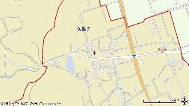 山形県上山市久保手周辺の地図