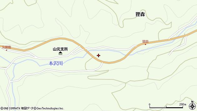 山形県上山市狸森久々取394周辺の地図