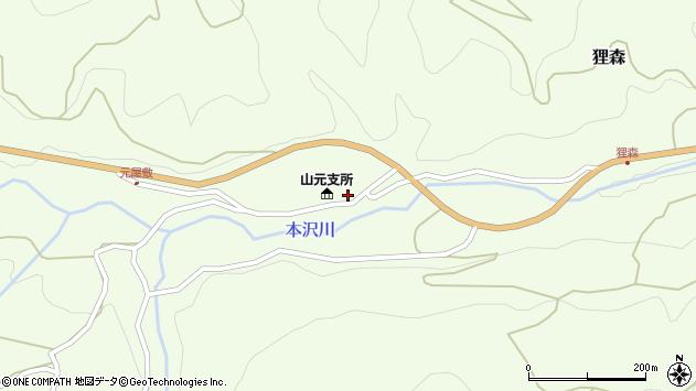 山形県上山市狸森508周辺の地図