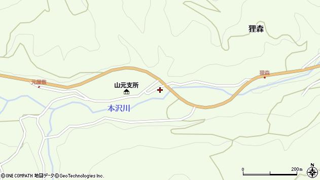 山形県上山市狸森久々取504周辺の地図