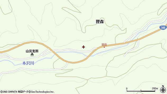 山形県上山市狸森久々取428周辺の地図