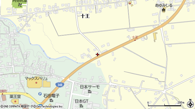 山形県西置賜郡白鷹町十王2806周辺の地図